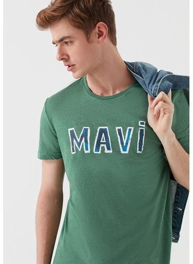 Mavi Erkek  Mavi Logo Baskılı Tişört 065314-28454 Yeşil